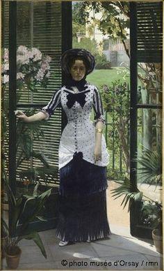 Albert Bartholomé  Dans la serre  vers 1881  huile sur toile  H. 2.35 ; L. 0.45  musée d'Orsay, Paris, France  ©photo musée d'Orsay / rmn