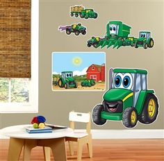 Johnny Tractor and his Friends removable wall decorations | WeGotGreen.com