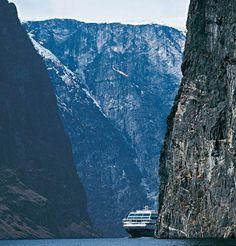 MS. Trollfjord, in the Trollfjorden (Troll Fjord) in Vesterålen, Norway. Kontakt: Liv Marit lmvangdal@gmail.com