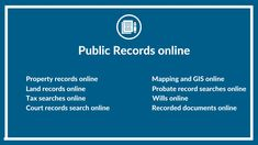 Free Public Records online by state. Free public records vary by state but may include: free land & property records searches, free tax searches, free court records searches, free recorded documents searches, free probate searches, and free GIS and mapping services. #OnGenealogy #PublicRecords Free Court Records, Public Records, Property Records, Land Search, Free Genealogy Sites, Records Search, South Dakota, Nebraska, Family History