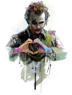 Heath Ledger as Joker by Katt Phatt Der Joker, Heath Ledger Joker, Joker Images, Joker Pics, Joker Pictures, Joker Batman, Joker Art, Superman, Joker Comic