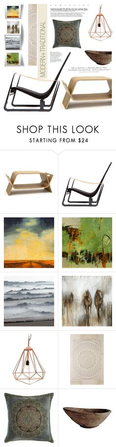 """""""modern and traditional"""" by senaa on Polyvore featuring interior, interiors, interior design, home, home decor, interior decorating, OFFI, Vitra, H&M and Karen Scharer"""