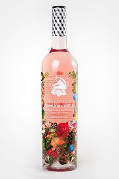 I like how this wine brand used a photo for a label design. Also the sticker around the bottle neck is cool. packaging illustration The Summer Hostess Gift Guide Wine Label Design, Bottle Design, Pretty Packaging, Packaging Design, Summer In A Bottle, Best Roses, Rose Brand, Wine Brands, Bottle Packaging