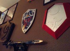 mirror shield finally done.. love my zelda shield wall