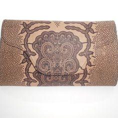Pochette rectangle imprimé wax (tissu africain)