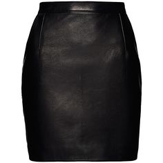 Magda Butrym Provo Leather Mini Skirt (4.330 BRL) ❤ liked on Polyvore featuring skirts, mini skirts, bottoms, saias, faldas, see through skirt, high waisted short skirts, leather miniskirt, embroidered skirt and high waisted mini skirt