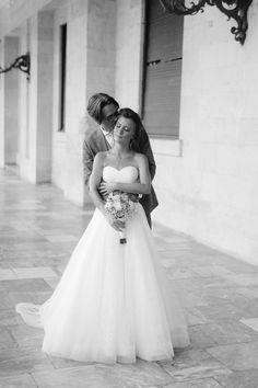 Bride and groom posing full of love out of Corfu palace Corfu Wedding, Greece Wedding, Corfu Island, Groom Poses, Island Weddings, Greek Islands, Old World, Hair Makeup