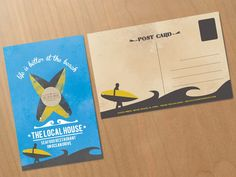 create a postcard for the local house seafood restaurant in miami beach by jago.design