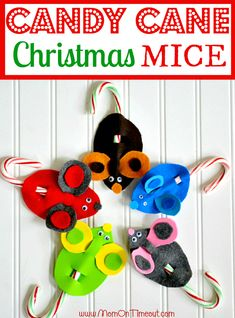 Candy Cane Mice are a fun and easy craft to make for Christmas! Super affordable and even more adorable!