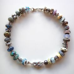 two trollbeads bracelets may be joined to create a gorgeous necklace