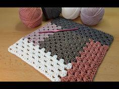 Kuschelige Decke im Granny Muster häkeln (with English subtitles) // ольга майорова Blog Crochet, Crochet Simple, Crochet Cozy, Crochet Hooks, Free Crochet, Crochet Cushions, Crochet Pillow, Free Knitting, Point Granny Au Crochet