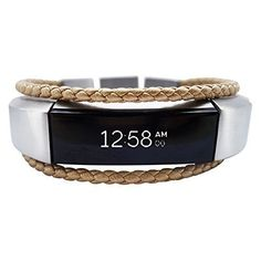 ba02dfb41f7 Fitbit Alta Band Aurel - Gold - stainless steel and real leather - Jewelry  for Fitbit Alta - Fitbit Alta Band - Fitbit Alta Accessories - Fitbit Alta  ...