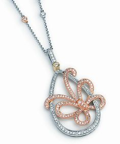 Simon G Butterfly pendant -18kt White, Yellow and Rose Gold w/ 1.00 carat diamond total weight