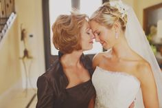 Love the Bride/Mom pictures. <3
