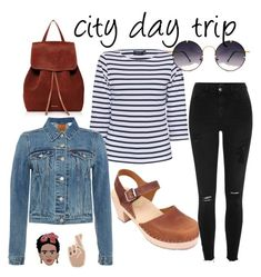 """""""City day trip"""" by lotta-from-stockholm on Polyvore featuring Lotta's highwood brown oiled nubuck clogs"""