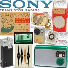 SONY vintage transistor radios book TR-52 TR-55 TR-5 TR-2K TR-33 TR-63 TR-86 TR8