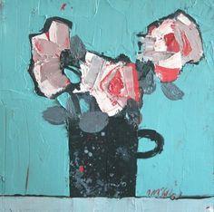 Scottish Artist Mhairi McGREGOR-Black Mug
