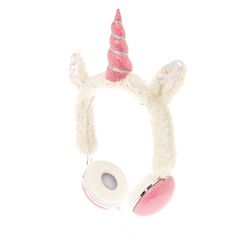 <P>This furry headphones are what unicorn dreams are made of! Over-the-ear headphones are decorated in silver tinsel and pink accents.</P><UL><LI>Materials: Plastic, Metal and Fabric<LI>Cord Length: 150 cm<LI>Plug Type: 3.5mm</LI></UL>