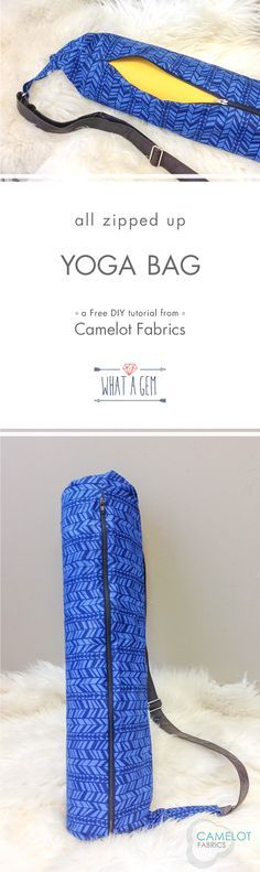 How To's Day | Yoga Bag Tutorial | What a Gem by Allison Cole for Camelot Fabrics