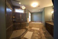 Custom designed shower.