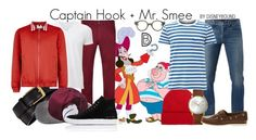 Captain Hook + Mr. Smee by leslieakay on Polyvore featuring polyvore, Burberry, Uniqlo, 3x1, Paul Smith, Topman, Common Projects, Timberland, Junghans, rag & bone, Tom Ford, RIGARDS, mens, men, men's wear, mens wear, male, mens clothing, mens fashion, disney and disneybound