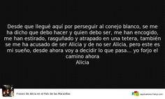 Alicia en el País de las M... 13 Frases y algunos Datos.