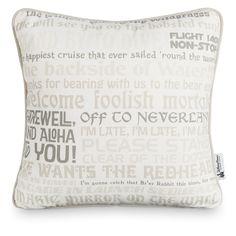 Disney Parks Text Art Pillow