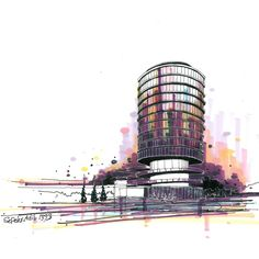 اسکیس حجمی تکنیک ماژیک زمان ۳۰دقیقه I love marker... Time:30min By Sepehr Adib #sketch #Architecturalsketch #drawing #marker #perspective #sepehr_adib #archilovers  #sketching