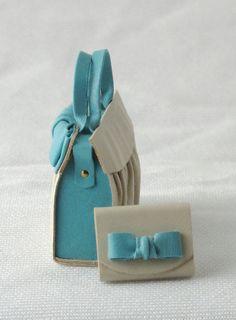 bolso de cuero moderno fantástico con escala 1/12 de la