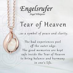 Tear of Heaven. #Peace #Clarity #Jewellery #Engelsrufer #Rose #Gold #Heaven #Pearl - Shop now for engelsrufer_uk_ireland > http://ift.tt/1Ja6lvu