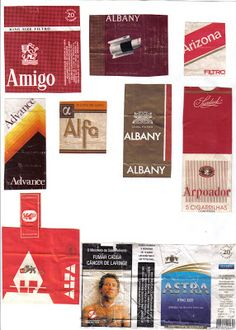 marcas de cigarro letra A ..... jogo das letras e marcas ... colecao de embalagens ...