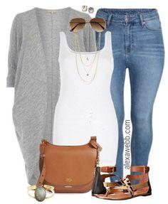 Plus Size Casual Outfit - Plus Size Ankle Jeans - Plus Size Fashion for Women - alexawebb.com #alexawebb