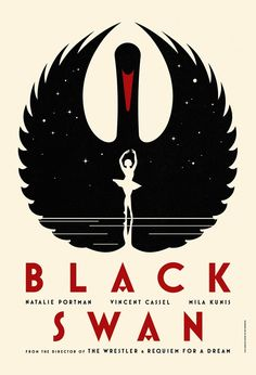 """Gorgeous promotional poster for the upcoming film, """"Black Swan.""""  Definitely on my must-see movie list..."""