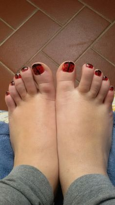 Red and black nail