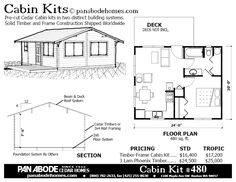 Seasonal Cedar Log Timber Cabin and Tiny House Kits by Pan Abode Cedar Homes Sold and Shipped Worldwide Small House Plans, House Floor Plans, Guest Cottage Plans, Mini Cabins, Saloon, Cedar Homes, Cabin Kits, Roofing Systems, Tiny House Living