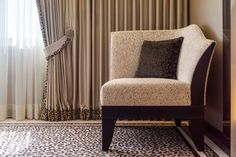 Interior design and realization by Werner Scheuber AG Carpet Flooring, Luxury Interior Design, Ottoman, Upholstery, Curtains, Furniture, Home Decor, Room Interior Design, Interior Designing