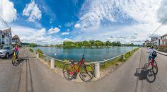 Valonia en Bicicleta. De Namur a Dinant por el Mosa - Anibal Trejo en la foto, salida de Namur