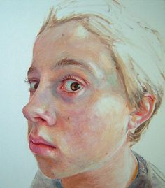 """Alex"" - Sue Rubira, oil on canvas, 2005 {figurative art boy head child face portrait cropped painting} suerubira.co.uk"