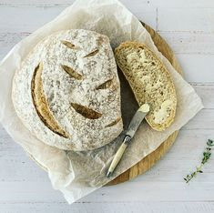 4 Simple ingredients to produce a delicious homemade rustic loaf Easiest Bread Recipe Ever, Easy Bread Recipes, Quick Bread, Baking Recipes, Freshly Baked, Bread Baking, Homemade, Rustic, Simple