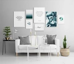 Decorate your living room with a trendy gallery wall! Find inspiration on how to decorate your living room in our Inspiration section. Upgrade your living room today with Desenio. Decor Room, Living Room Decor, Bedroom Decor, Inspiration Wand, Home Decor Inspiration, Wall Design, House Design, Wall Art Prints, Interior Design