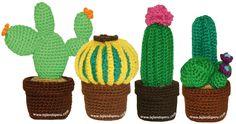 amigurumi cactus, very useful tutorial Crochet Amigurumi, Amigurumi Patterns, Crochet Toys, Knit Crochet, Crochet Animal Patterns, Stuffed Animal Patterns, Cactus En Crochet, Spanish Pattern, Crochet Monsters