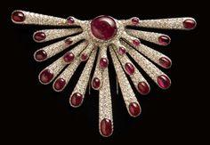 """Ameoba"" brooch of diamonds, rubies and gold by Verdura and Salvador Dali."
