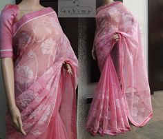 Buy Multi Color Chanderi Silk Saree on Zinnga Fashions. Buy Now