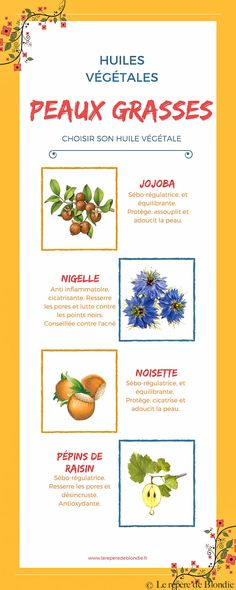 Which vegetable oils to choose when one has oily skin? What are the benefits of oils? Nigella, French Beauty Secrets, Beauty And The Best, All Natural Skin Care, Natural Beauty, Jojoba, Skin Routine, Facial Care, Diy Skin Care