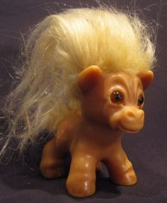 ♥ 1960s Vintage Original Dam (Thomas Dam) Horse Troll Doll ♥