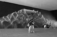 Australian street artist uses tape to create outstanding works...