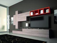 For color combination Living Room Tv, Living Room Modern, Living Room Designs, Tv Furniture, Furniture Design, Room Interior, Home Interior Design, Tv Wall Decor, Wall Tv
