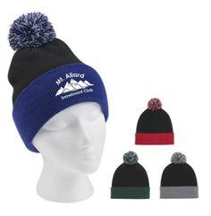 dbc7bdcba7c49 Knit Pom Beanie With Cuff winter theme