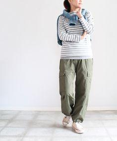 stripes, blousy pants