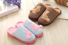 Amazon.com | Womens Mens Couple Cartoon Rabbit Soft Cozy Velvet Fleece Thermal Home Indoor Slippers Winter Warm Plush Slip-on Household Shoes Scuff Waterproof Anti-skid Sole Mules Clog | Slippers